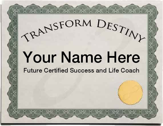 Live Success and Life Coach Certification Training
